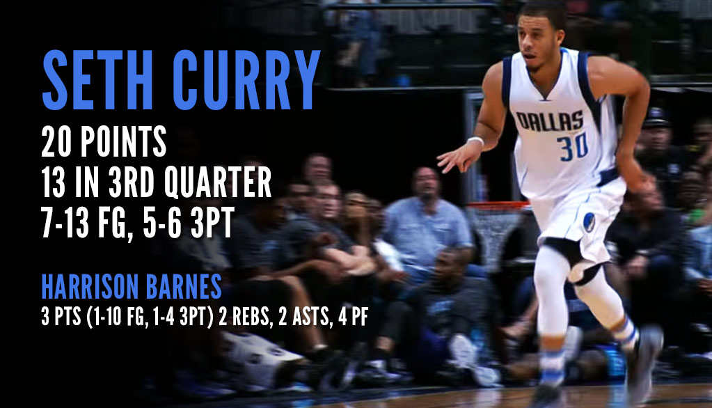 Seth Curry Catches Fire In Dallas Home Debut, While Harrison Barnes Struggled To Make A Shot