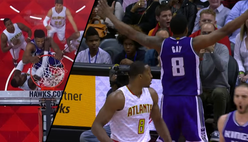 Rudy Gay Posterizes Paul Milsap + Gay's Top 10 Dunks