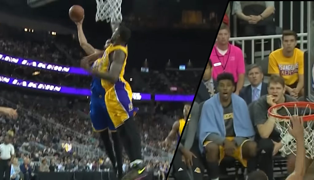 Even Nick Young Was Impressed By JaVale McGee's Dunk On Thomas Robinson