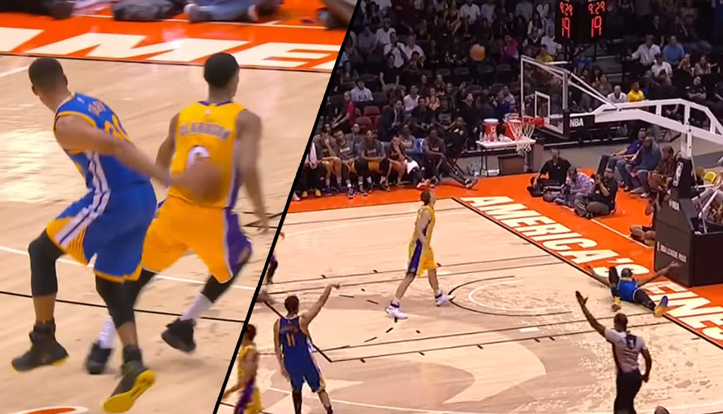 Flashy Fastbreak Ends With Kevin Durant Celebrating Klay Thompson's 3 On The Ground Before It Goes In
