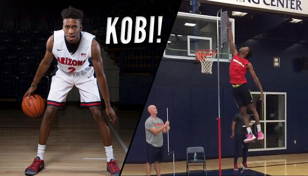 Arizona Freshman Point Guard Kobi Simmons Shows Off His 45 Inch Vert!