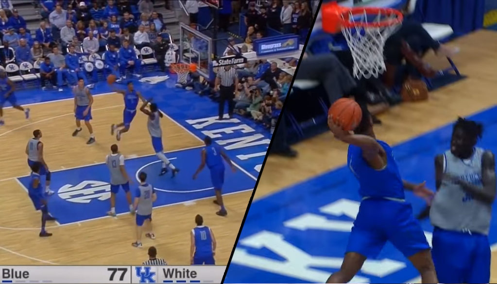 Malik Monk Puts On A Sick Dunk Exhibition at Kentucky Blue/White Scrimmage