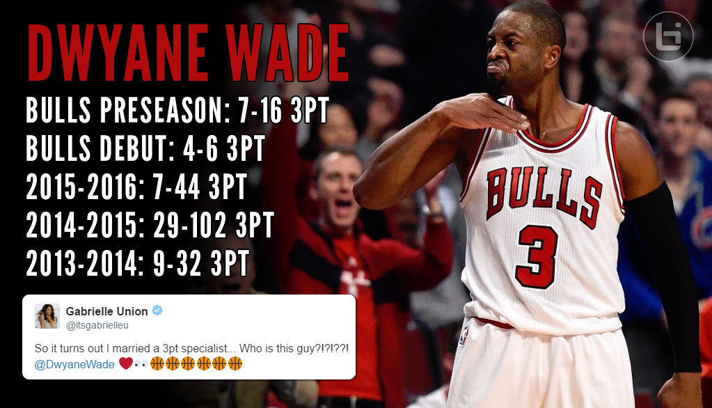 Dwyane Wade Celebrates 3-Point Dagger In Bulls Debut With A Throat Slash Celebration