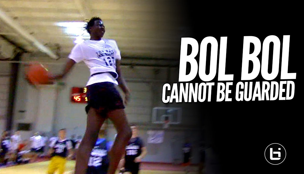 6'10 Bol Bol Plays Like a Guard & Throws Down INSANE Dunks! FULL Highlights from Top Rank Showcase!
