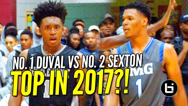 No. 1 Trevon Duval (24/6/5) vs No. 2 Collin Sexton (39 pts) at Holiday Hoopsgiving! Raw Highlights!