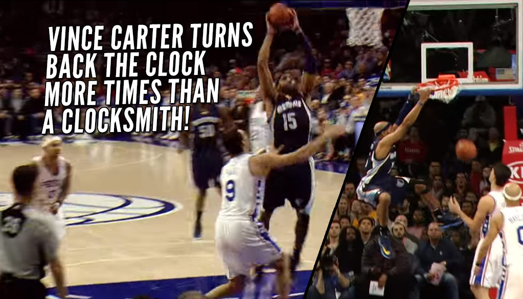 39-Year Old Vince Carter Introduces Himself To 22-Year Old Dario Saric