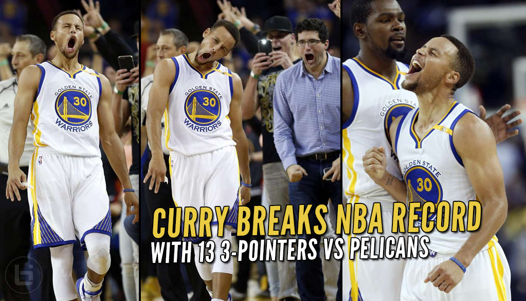 Steph Curry Follows Up 0-10 3PT Night With NBA Record 13 3-pointers!