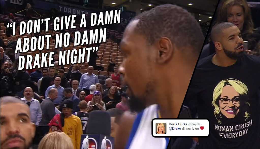 "Kevin Durant Doesn't Give A Damn About ""Drake Night"" But Doris Burke Does!"