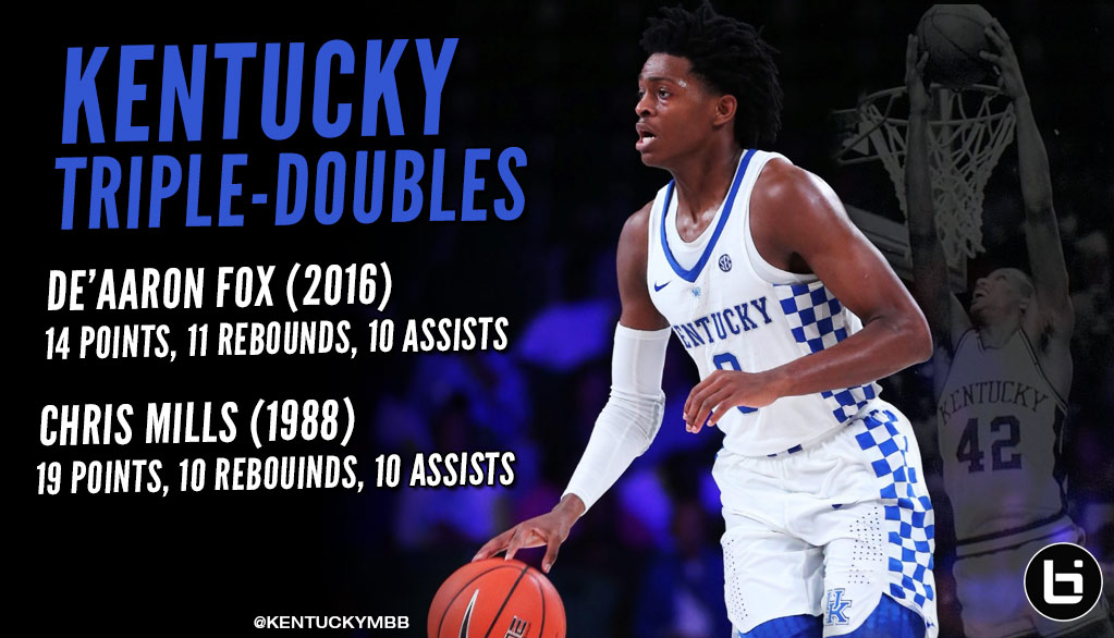 De'Aaron Fox Gets 2nd Triple-Double In Kentucky History…Wait, Maybe He Didn't?