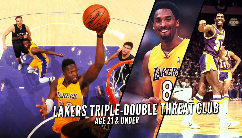 Julius Randle Triple Doubles Vs Nets | The 21 & Under Lakers Triple-Double Threat Club