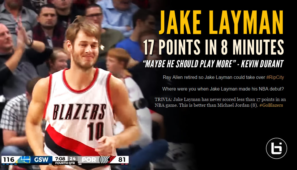 Internet Reacts To Jake Layman's Historic NBA Debut (17 Points In 8 Minutes!)
