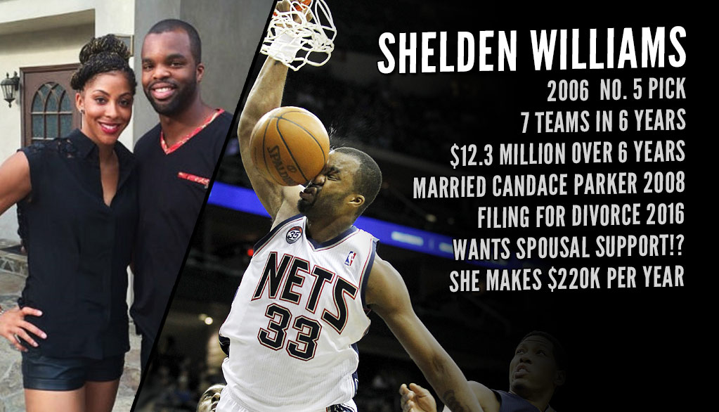 Former NBA Lottery Pick Shelden Williams Files For Divorce From Candace Parker…And Wants Spousal Support!
