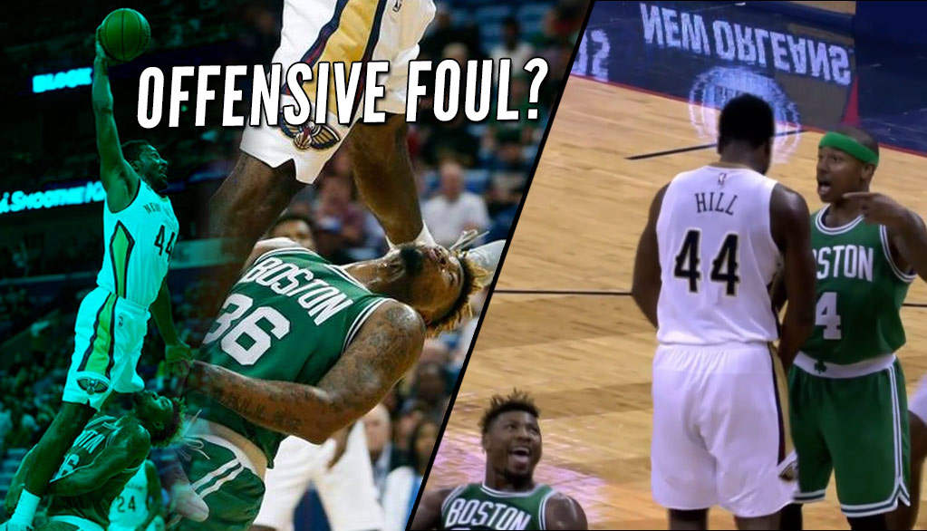 Offensive Foul?! Solomon Hill Posterizes A Flopping/Laughing Marcus Smart