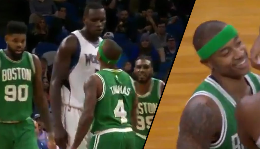 5'9 Isaiah Thomas Gets Into 6'11 Gorgui Dieng's Face….Chest After Shove