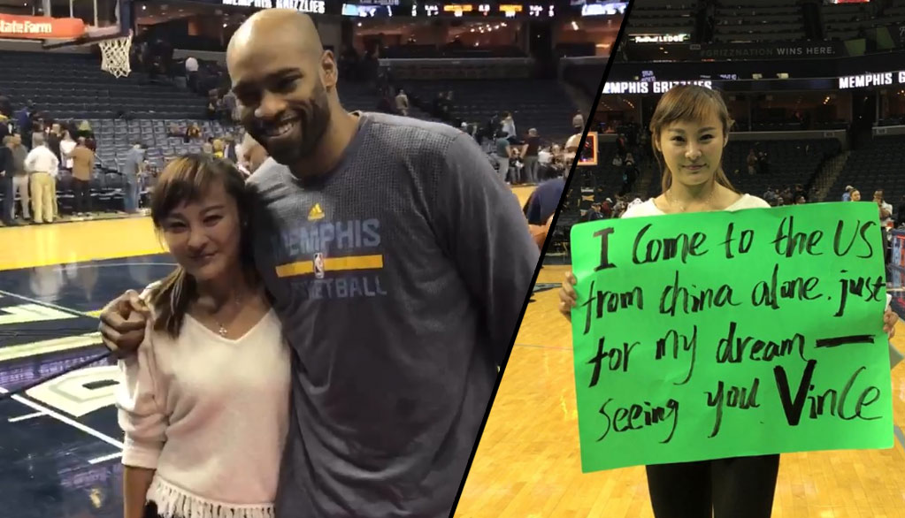 Vince Carter Makes Dream Come True For Fan From China