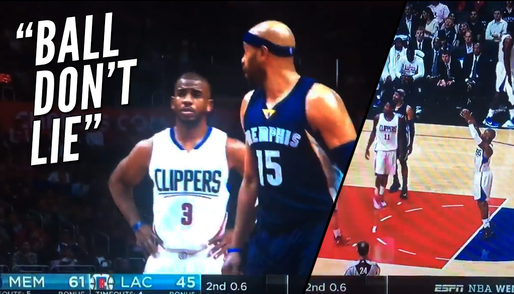 Ball Don't Lie: 90% Free Throw Shooter Chris Paul Misses 2 Straight After Questionable Foul Call On Vince Carter