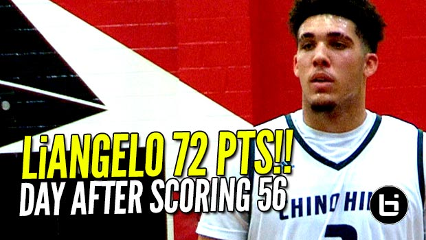 LiAngelo Ball Scores 72 POINTS a Day After Dropping 56!! FULL Highlights!