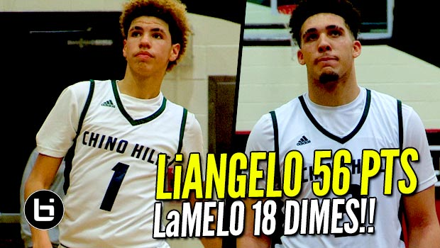 LiAngelo Ball Drops 56 Points & LaMelo Dishes 18 Dimes In Chino Hills BLOWOUT Win!