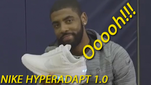 WATCH KYRIE IRVING TRY ON THE NIKE HYPERADAPT 1.0 W/ AUTO LACES