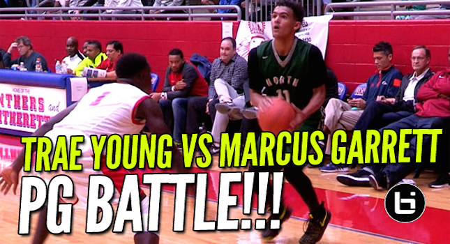 Trae Young Vs Marcus Garrett! Thanksgiving Hoopfest PG Battle!