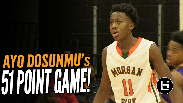 Ayo Dosunmu 51 Point Game! Chicago Morgan Park PG Goes Off in Season Opener!