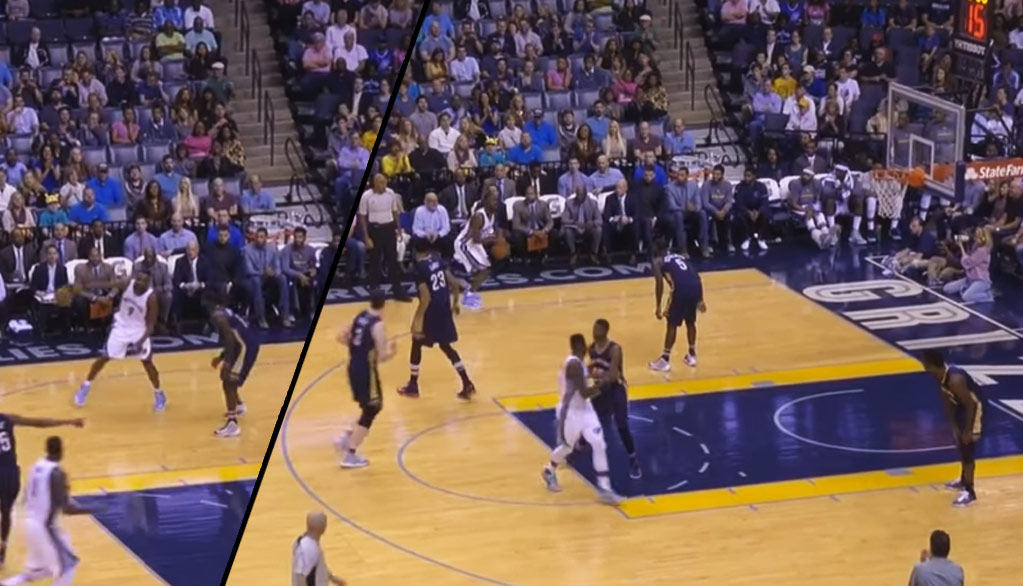 Lance Stephenson Dares Tony Allen To Shoot A 3, Allen Airballs It