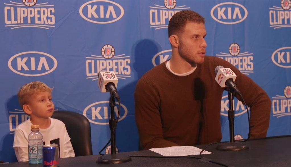 Clippers/Raptors Postgame Interview: Blake Griffin & His Son
