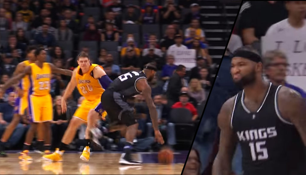 DeMarcus Cousins Mean Muggin After Crossing Mozgov Then Making The And1
