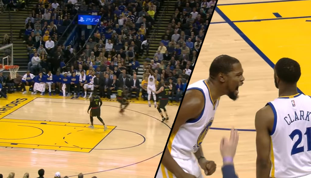 Kevin Durant Gets Real Hype After Ian Clark Hits A Buzzer-Beating Three