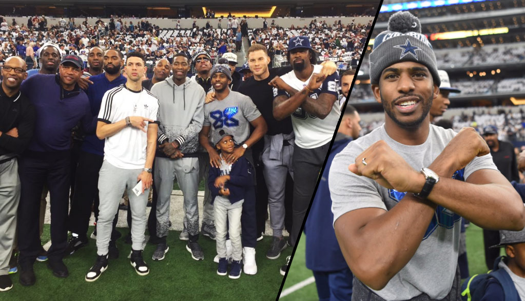 Chris Paul & The Clippers Attend Cowboys Game on Thanksgiving