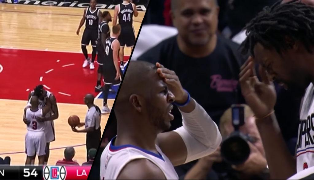 Ouch! Chris Paul and DeAndre Jordan Bump Heads During Brooklyn Beatdown
