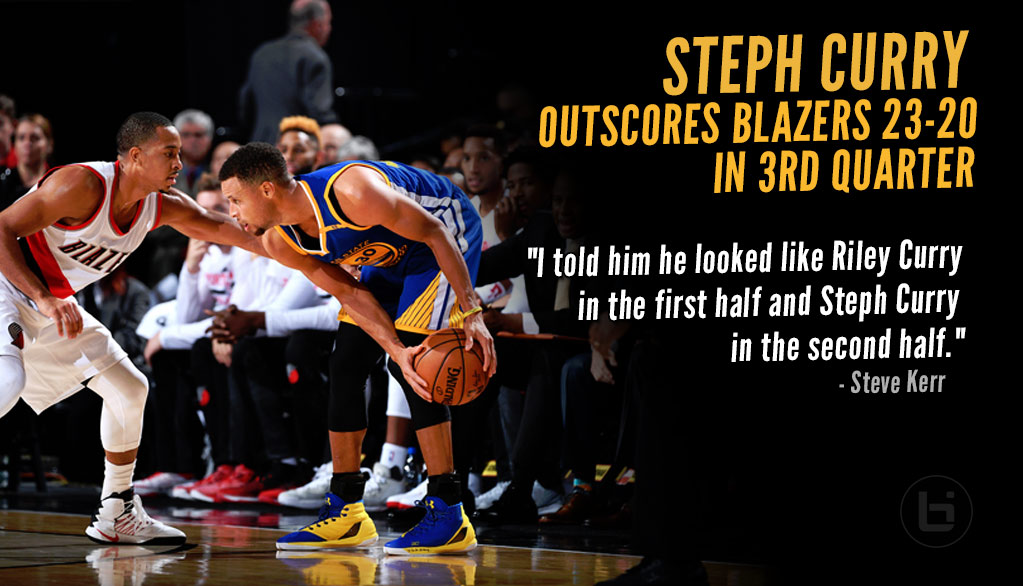 Steph Curry Catches Fire & Outscores Blazers 23-20 in 3rd Quarter