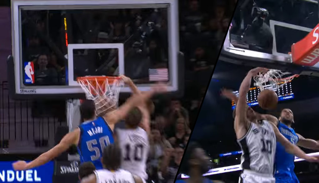 David Lee Is Still Dunking On Defenders! And-1 Dunk On Mejri