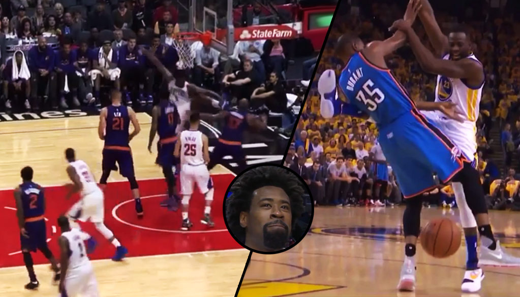 DeAndre Jordan Did His Best Draymond Green Impersonation On Halloween vs Suns