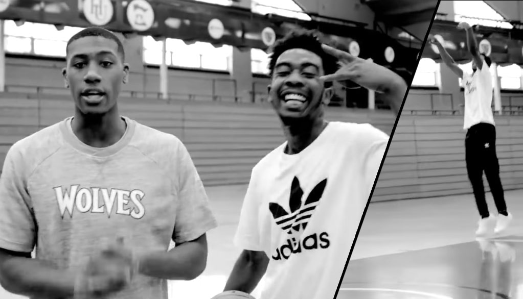 Desiigner Shooting Hoops, Dunking (!?) & Bowling With Kris Dunn
