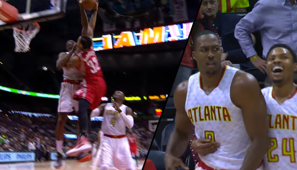 Bad Call? Dwight Howard Rejects KJ McDaniel's Dunk & Gets Called For A Foul