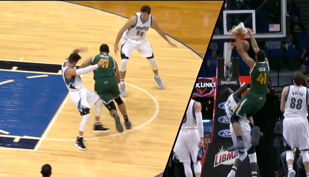 Ricky Rubio's Flop Leads To His Teammate Getting Posterized By Trey Mamba