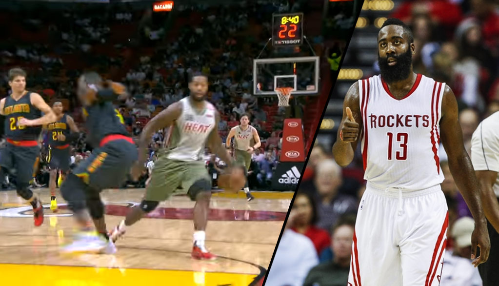 Is that James Harden or James Johnson With The Euro Step Move On Millsap?