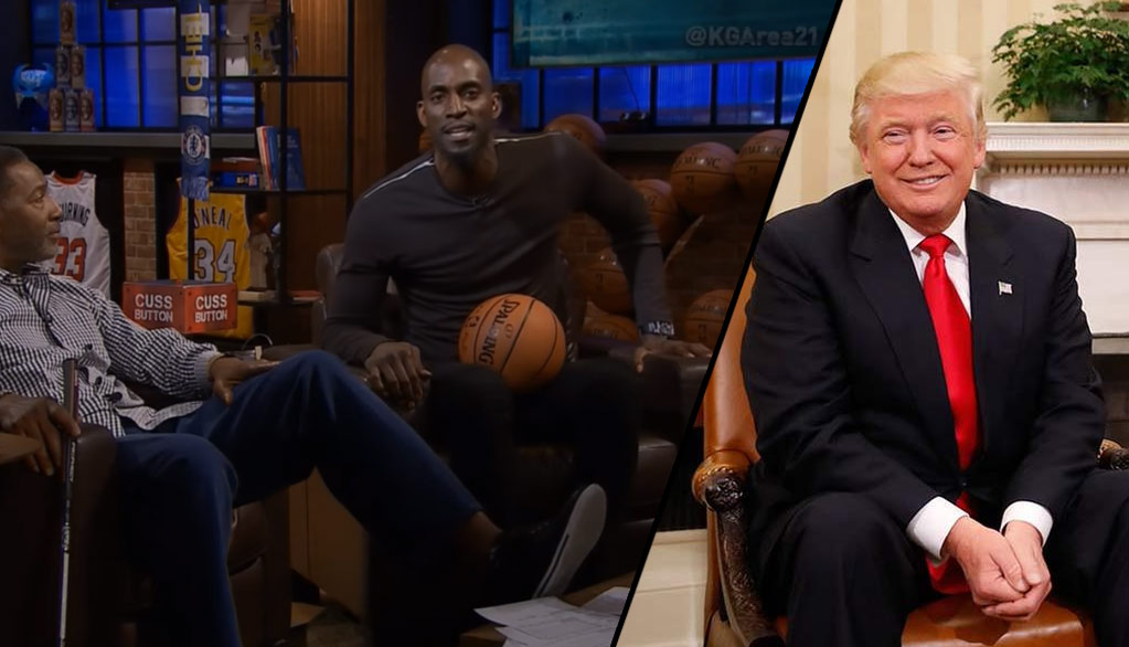 "Kevin Garnett Hits The Cuss Button To Talk About Trump Proving ""Anything Is Possible"""