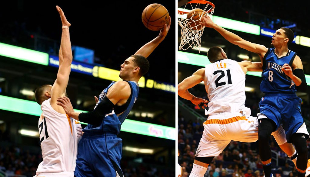 Zach LaVine Posterizes 7'1 Alex Len, 1st Poster Dunk Of His NBA Career!!