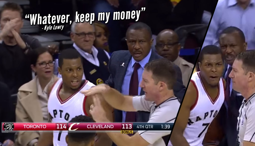 BS! Kyle Lowry Called For A Tech For Bouncing The Ball Off His Foot