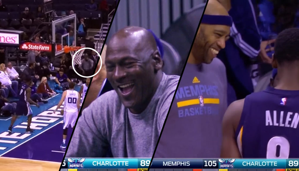 Michael Jordan Cracks Up After Tony Allen Scores And Stares Him Down