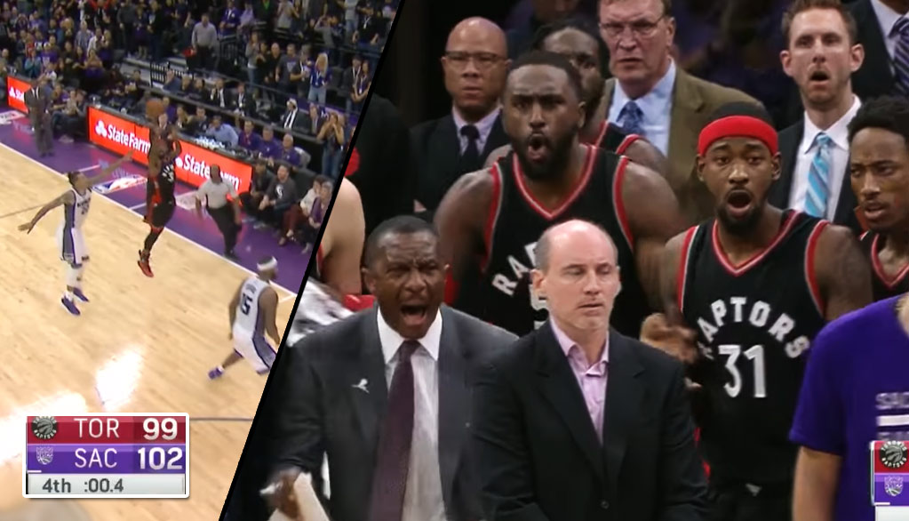 Raptors Coach Loses It After Terrence Ross' Game Tying 3 Is Overturned Because Of Timekeeper Error