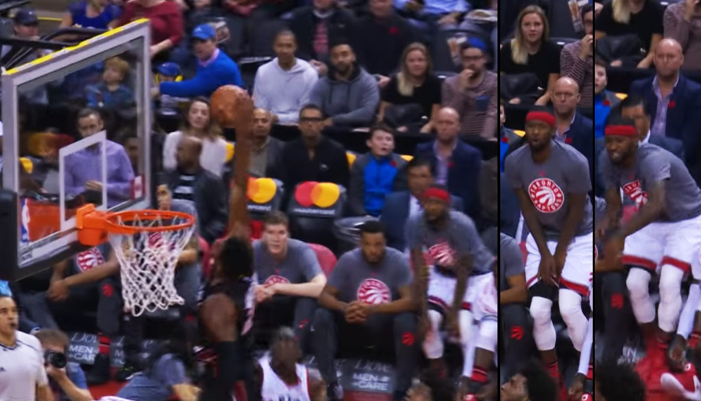 Terrence Ross' Hilarious Reaction To Hassan Whiteside's Incredible Block/Catch On Siakam