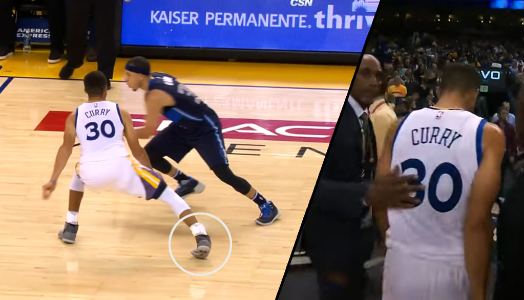 Steph Curry Tweaks Ankle Guarding Brother Seth Curry