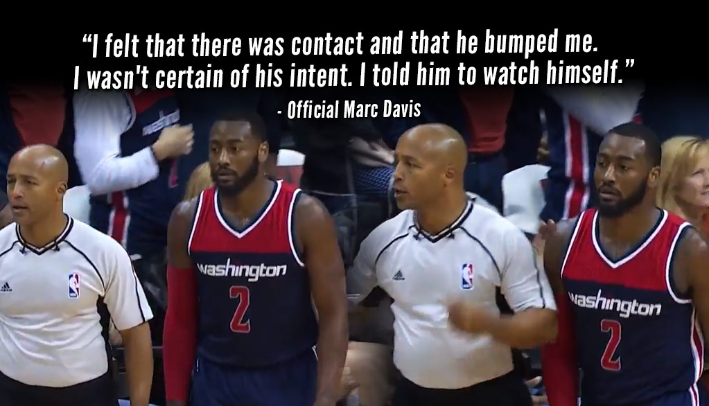 "John Wall Ejected After Bumping Ref & Using ""Inappropriate Language"""
