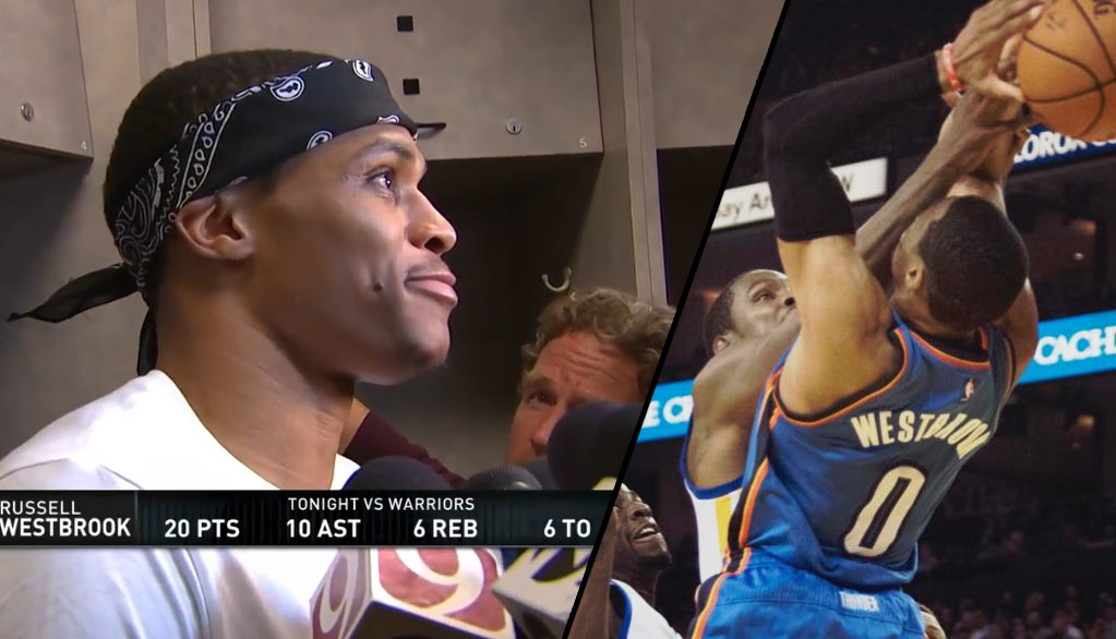 """Russell Westbrook Says The Warriors """"Talk A Lot Of Trash Now"""""""
