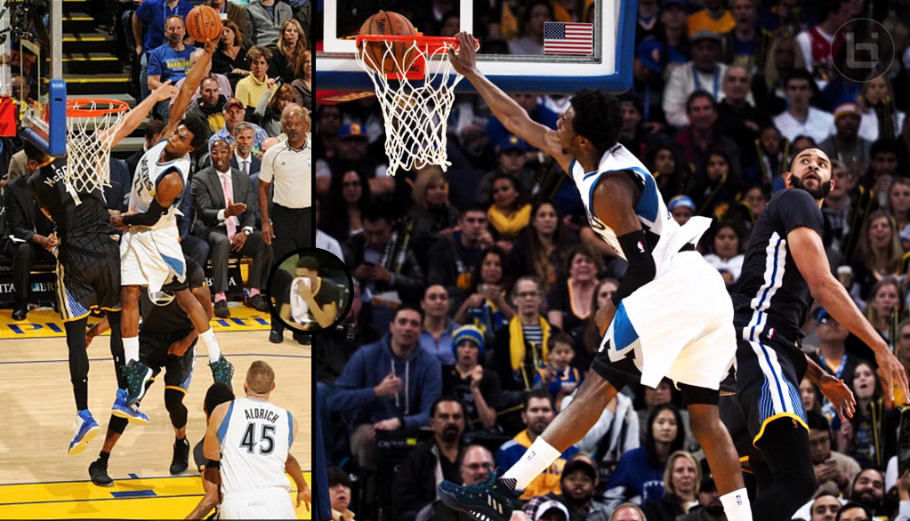 Andrew Wiggins' Revenge Dunk On JaVale McGee