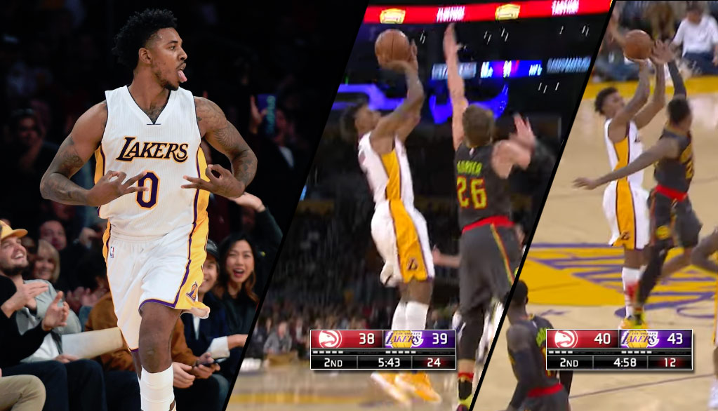 The Return of Swaggy P: Nick Young Puts On A Show In 2nd Quarter Vs Hawks