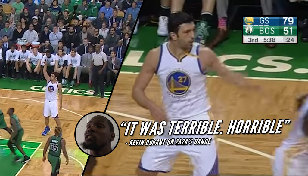 Up By 28, Zaza Pachulia Does Kevin Durant's Celebration Dance After Making A Shot